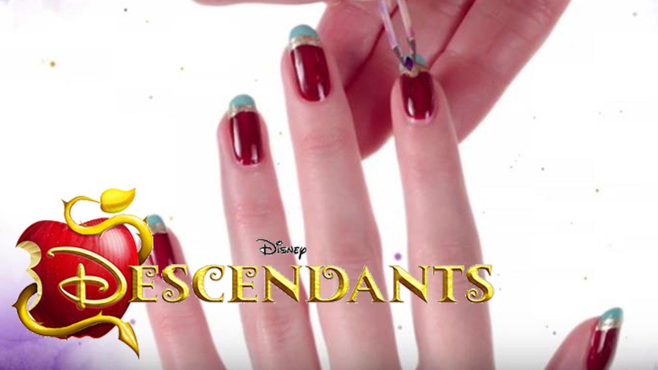 Disney\'s Nail Art - Juwelen-Maniküre aus The Descendants - DISNEY ...