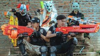 GUGU Nerf War : Suicide Mission CID Dragon Nerf Guns Intrusion Fight SKMAN Impossible Battle
