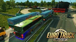 Euro Truck Simulator 2 - Jalur Jalinsum&Mod Bus Dan Penumpang-Supir random Penumpang Mavookk!! :v