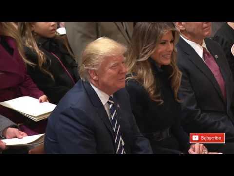 President Donald Trump Attends National Prayer Service ✔