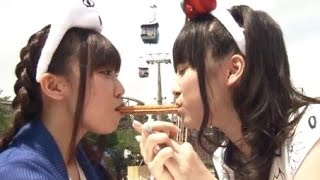 ゆみりと愛奈が遊園地デート。21歳ってすごい(笑) 躊躇なくバンジージ...