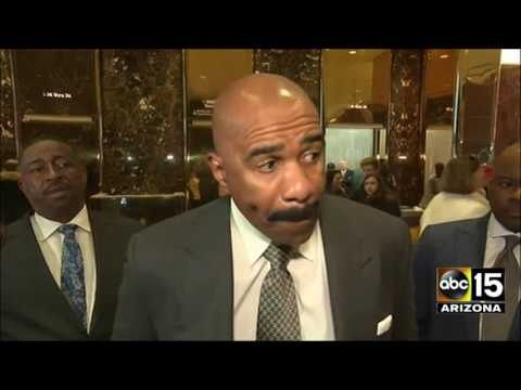 FULL: Steve Harvey meets with President-elect Donald Trump at Trump Tower.
