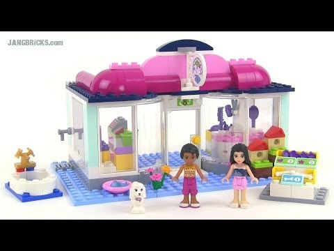 Lego friends 41007 heartlake pet salon set review youtube for Lego friends salon de coiffure