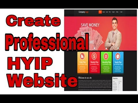 Create A Professional Bitcoin Investment  Hyip Website Without Coding Knowledge