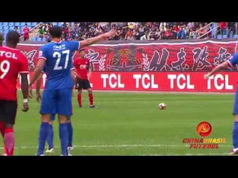 Gol Anthony Ujah - Liaoning Whowin x Chongqing Lifan - 9a rodada da Super Liga da China 2017
