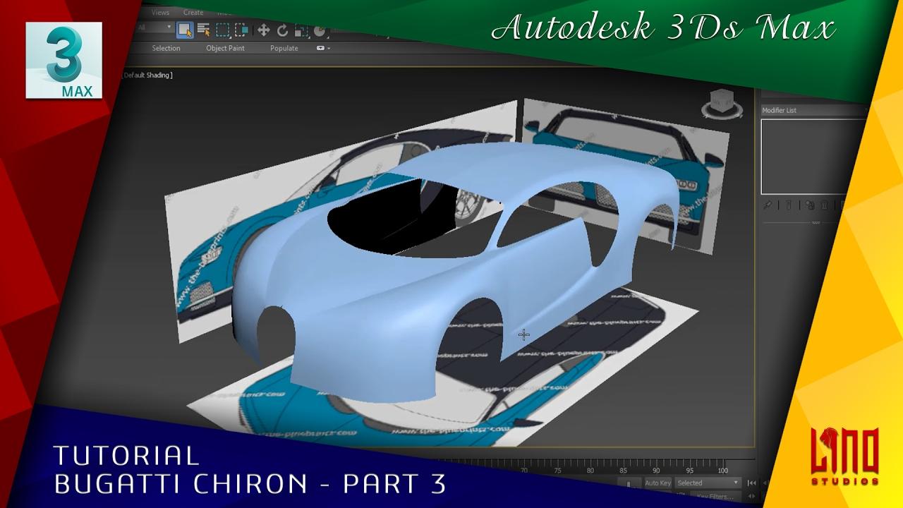 3ds max bugatti chiron part 3 body modeling lino studios youtube. Black Bedroom Furniture Sets. Home Design Ideas