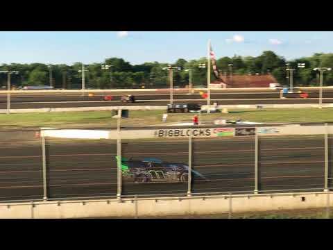 Super Late Model Heat race action @ Bridgeport Speedway on 7-18-18