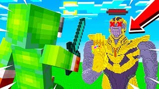 DEFEATING THANOS INFINITY GAUNLET BOSS BATTLE!