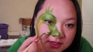 MarelousMask - SIngle Eye Contest - Dragon face painting design Thumbnail