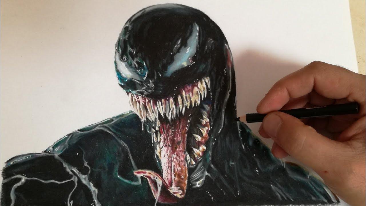 Como Dibujar A Venom Realista How To Draw Realistic Venom Cunsart