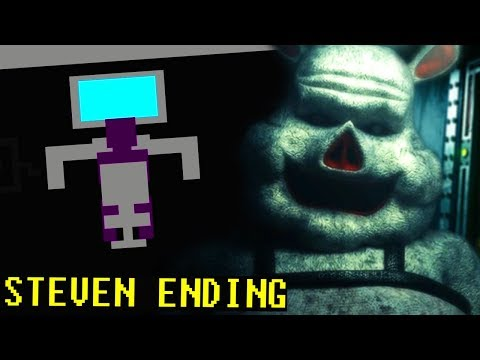 THE PURPLE MAN IS WORKING WITH THE PIG ANIMATRONIC?! || FNAF Porkchop's Adventure STEVEN ENDING