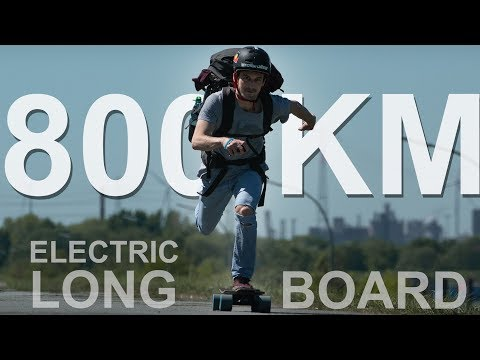 ELECTRIC LONGBOARD TRIP (800km)