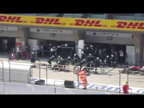 Formula One Chinese GP 2015 Pit Stop: Jenson Button (McLaren Honda)