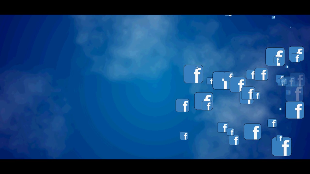 facebook icon flying background