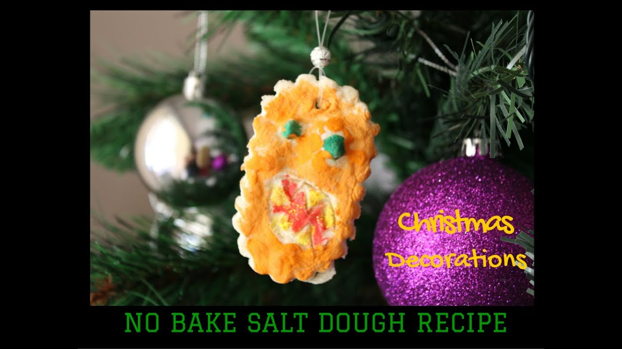 No Bake Salt Dough Ornaments  Great for making Christmas