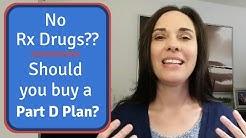 Part D Options When You Don't Take Prescription Drugs