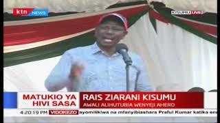 \'Sisi wote tuko nyuma ya Handshake kuunganisha Kenya\' DP Ruto during Healthcare launch in Kisumu