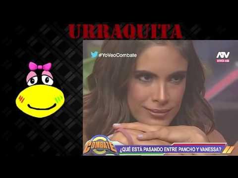 Combate 05/04/16 Vanessa Jeri y Pancho Rodriguez hacen miraditas y Jessica se va del set