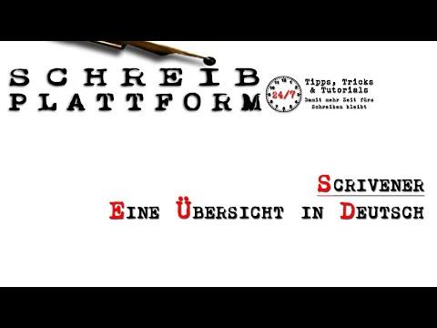 Wie schreibe ich ein Buch? Scrivener - Eine Übersicht in Deutsch