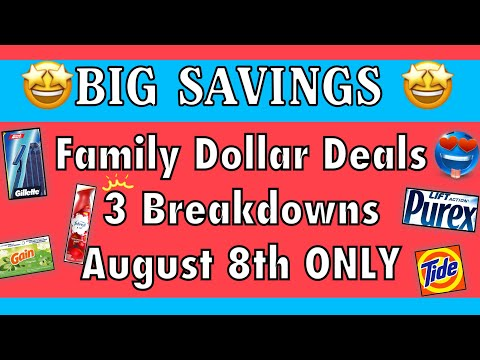 3 Family Dollar ALL DIGITAL Deals//LAUNDRY LOADED//under $9.00!!//#big Savings