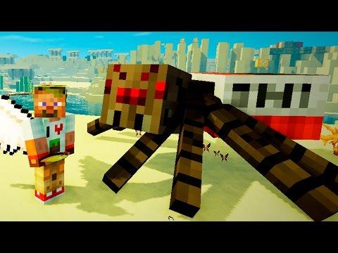 Опасные битвы в Minecraft 122 - Босс Динамитный Паук Мутант (Сын Крипера)