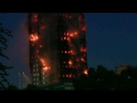 Massive fire blazes through London high-rise