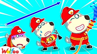 Baby Wolfoo Becomes the Best Firefighter - Kids Stories About Baby Wolfoo   Wolfoo Channel