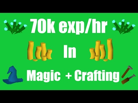 [OSRS ]Profit While Training Crafting + Magic (70k exp/hr)- Oldschool Runescape Money Making Method!