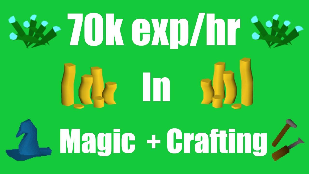 OSRS ]Profit While Training Crafting + Magic (70k exp/hr