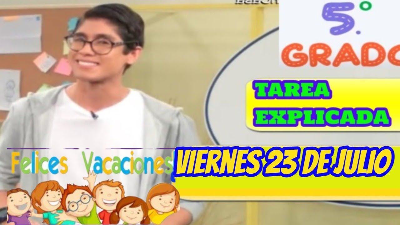 🥰5to Secundaria👧/ VIERNES 23 DE JULIO / Tv Peru EN Vivo / Aprendo en casa.