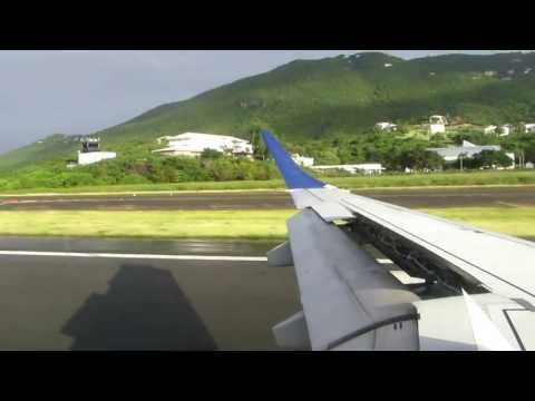 JetBlue Landing in Charlotte Amalie St. Thomas from San Juan Puerto Rico on January 8, 2013