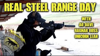 DesertFox Airsoft: Real Steel Range Day with Unicorn Leah, AO Dave and Ragnar Ross