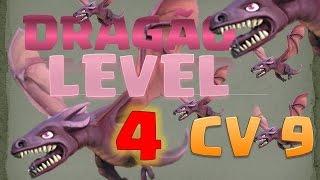 Dragão level 4 no centro de vila 9 | Café com Clash | Clash of clans