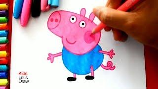 Cómo dibujar a GEORGE (El Hermano de Peppa Pig)