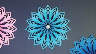 How to Make a Paper Snowflake (Paper Star)   Make Christmas Decoration Yourself