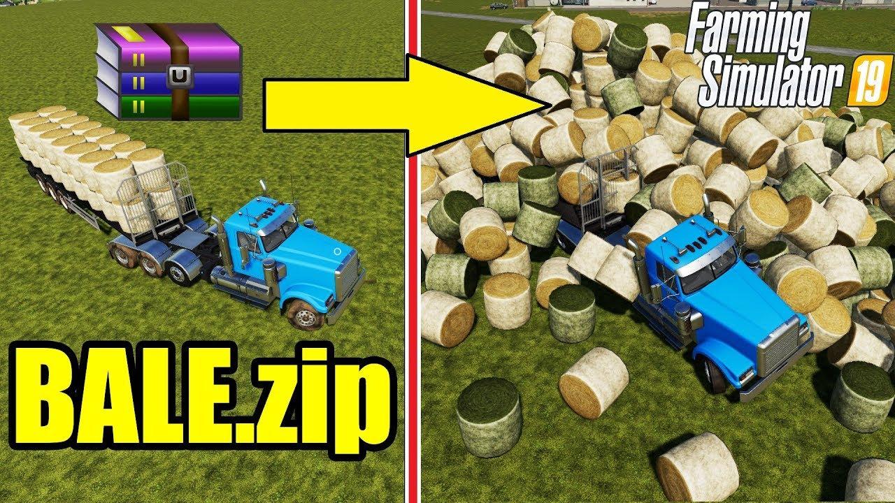 Farming Simulator 19 | BALE ZIP :) : +1000 AUTO LOAD TRAILER