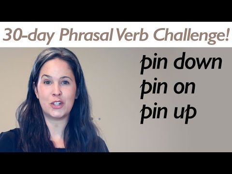 PHRASAL VERB PIN