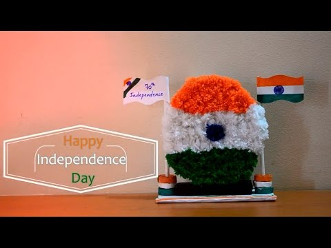 Independence day craft for kids using Pom pom |Pom Pom craft| ||Creative Indian Arts|| #4 thumbnail