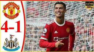 Manchester United vs Newcastle | 4-1 highlights and all goals | Ronaldo scored 2