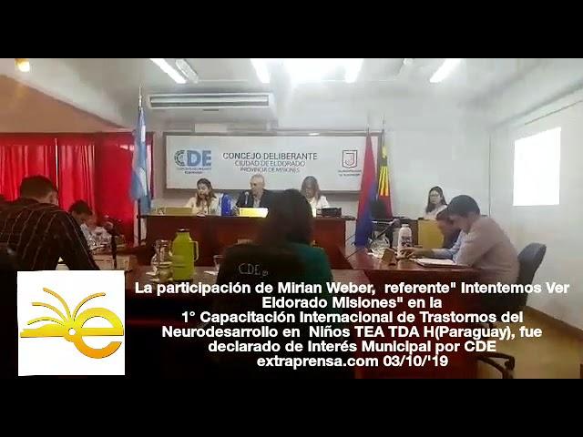 Referente de Intentemos Ver Eldorado fue invitada a Paraguay.