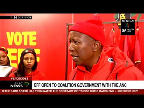 EFF open to coalition government with ANC