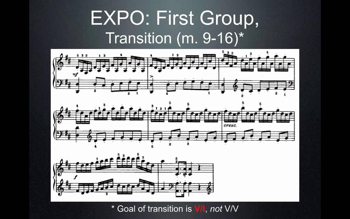 medium resolution of sonata allegro form explained haydn piano sonata in d major movt 1