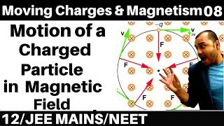Moving Charges n Magnetism 08 : Motion of a charged Particle in Magnetic Field : JEE /NEET
