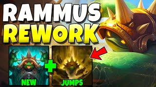 RAMMUS REWORK GAMEPLAY!! HIS ULT IS NOW A JUMP!? - League of Legends
