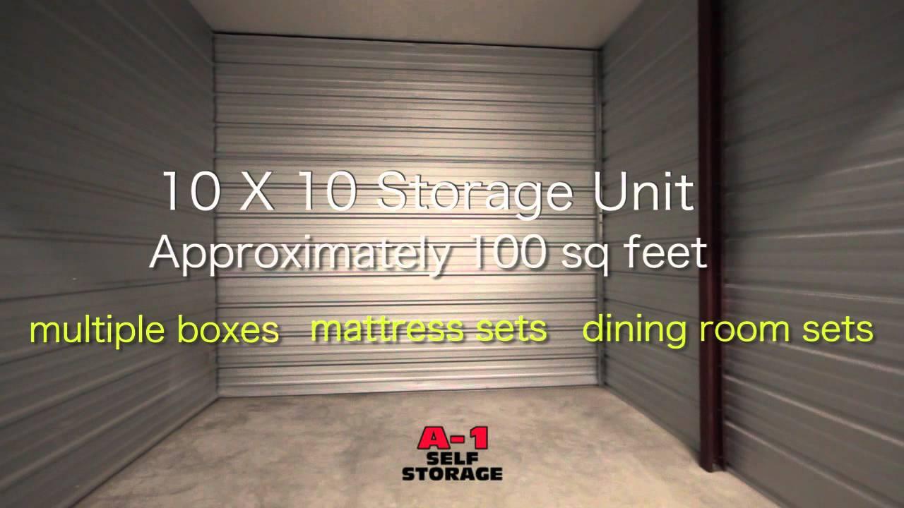 Etonnant 10x10 Storage Unit   A 1 Self Storage   YouTube