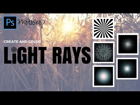 How to put light rays in photoshop