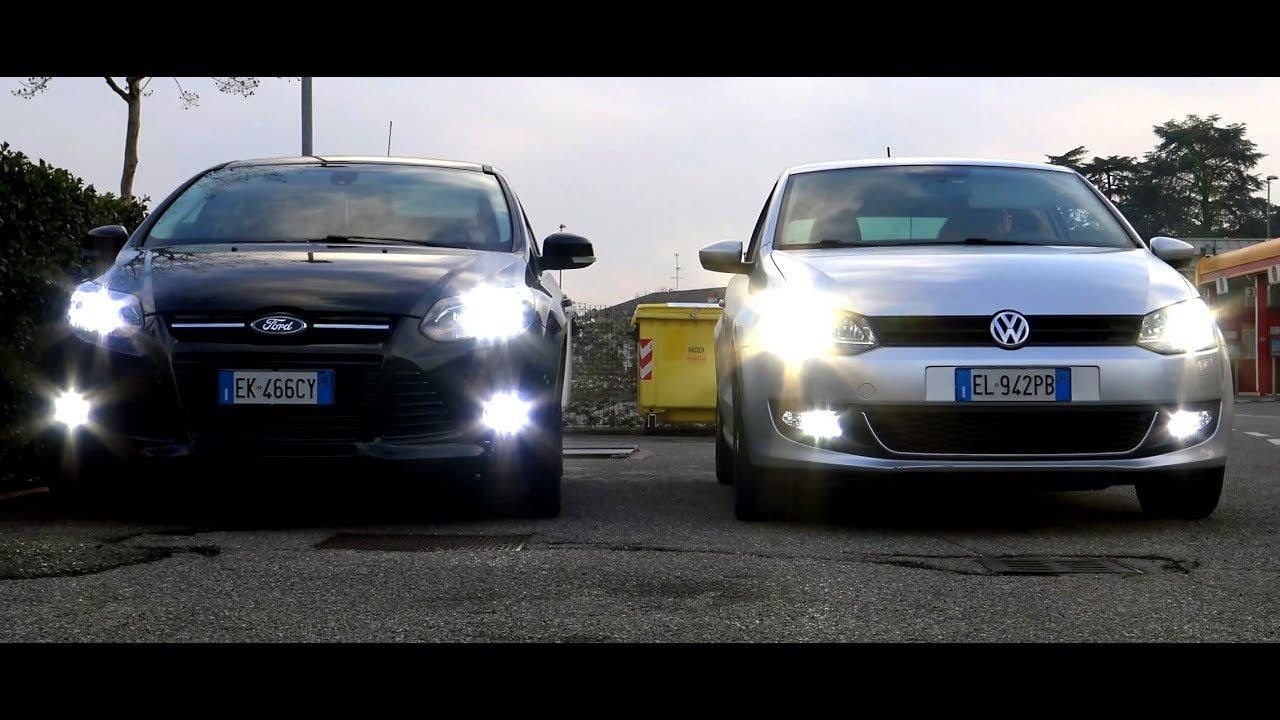 Test Ford Focus Led Lights Vs Vw Polo Xenon Lights