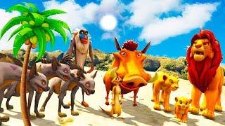 O Rei Leão (Lion King) Timon \u0026 Pumbaa and Shenzi Banzai Ed Desafio na Mega Rampa GTA V MODS
