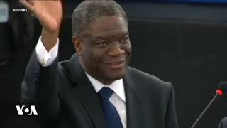 Dkt. Denis Mukwege asherehekea tuzo ya Nobel na wagonjwa wake.