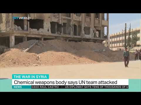 Chemical weapons body says UN team attacked in Syria